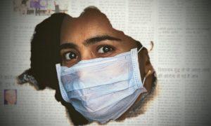 Mask in Newspaper